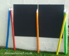 How to make giant pencils for your garden Amazing tutorial and cheap too!