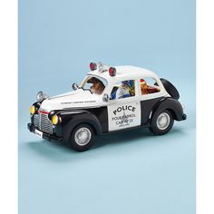 Roman Santa Claus Police Car LED Music Box (£45) ❤ liked on Polyvore featuring home, home decor, holiday decorations, music box, santa music box, music home decor and angel music box