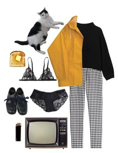 """""""buttered toast"""" by unpleasantunicorn on Polyvore featuring Diane Von Furstenberg, SELECTED, Monki and Louis Vuitton"""