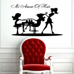 Graceful Girl Woman Silhouette Housewares Wall by SuperVinylDecal Saloon Decor, Window Mural, Vinyl Wall Decals, Sticker Vinyl, Woman Silhouette, Fall Mantel Decorations, Beauty Room, Hair Beauty, Home Decor Trends