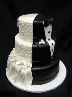Wedding Gown/Tuxedo Cake