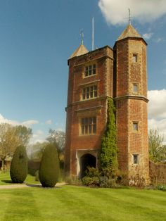 The Elizabethan Tower at Sissinghurst Casle, Kent, England. Former home of writer Vita Sackville-West. By B Lowe
