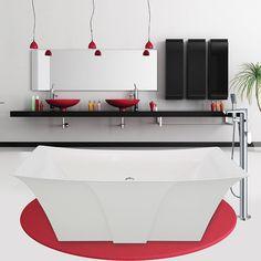 Unique modern freestanding bathtub by Alcove for stylish bathroom Lilium Collection Alcove, Freestanding Bathtub, Relax, Modern, Bathroom, Stylish, Unique, Collection, Freestanding Tub