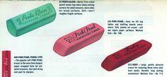 Vintage erasers, 1955.
