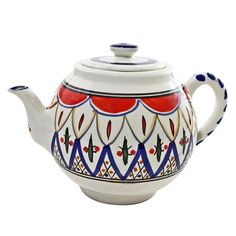 Tabarka Design Large Teapot (Tunisia) - Overstock™ Shopping - Great Deals on Tea & Coffee Sets