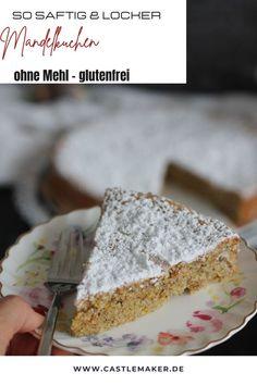 Super leckeres einfaches Rezept für einen fluffigen und saftigen mallorquinischen Mandelkuchen. Vanilla Cake, Super, Desserts, Drinks, Food, Photography, Almond Cake Recipes, Fruit Cakes, Quick Cake