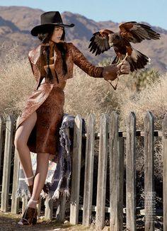 culturele fashion editorials vogue china cowgirl