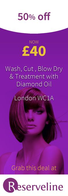 Click through to enjoy a hairwash, a Diamond Oil treatment, haircut, blow-dry and style at Hairform Studio, Holborn and SAVE Diamond Oil, Top Stylist, Blow Dry, Coupons, Hair Cuts, Studio, Beauty, Style, Coupon