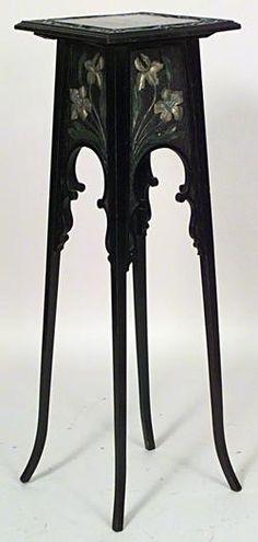 Art Nouveau Art Nouveau misc. furniture pedestal ebonized