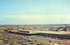 LAX in the early 1960s towards the United Airlines terminal...
