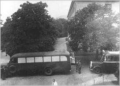 Transport Bus at work in Hartheim