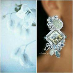Soutache earrings - majolica design - by Mhoara Jewels