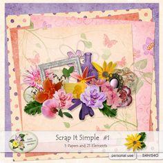 Scrap It Simple #1 - fun and afordable Mini Kit #lindacumberlanddesigns