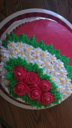 My all buttercream christmas cake im so happy with it