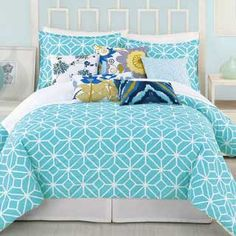 Trina Turk Turquoise Trellis Bedding Collection
