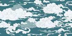 Seamless Cloud Pattern Wall Mural, Premium Canvas Wall Murals for Residential and Commercial Use, from Limitless Walls. Standard self adhesive peel and stick fabric wall art, custom sizing is available. Variety of easy install fabrics and finishes to choose from. Personalize any space with beautiful abstracts, photography, and more. Samples available upon request and free shipping to the US and Canada, plus a risk free return policy. Fabric Wall Art, Canvas Fabric, Mandala, Clouds Pattern, Waves, Decoration Design, Pattern Drawing, Wall Patterns, Apocalypse