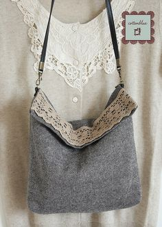 """Great purse idea, but do the """"pixel paint"""" treatment where the lace is located!"""