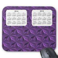 Purple Diamonds 2 Year 2014-2015 Calendar Mousepad Design from Calendars by Janz
