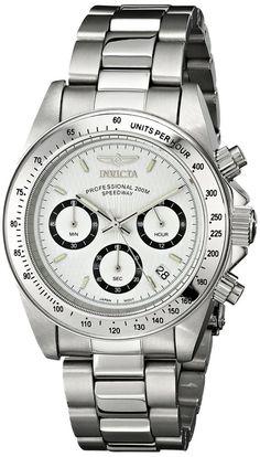 535a33c80 Invicta Silver Plata Hombre Bracelet Pulsera Reloj Watch Steel Hand Crystal  Man #Invicta #Luxury
