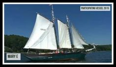 The Mary E. is Maine-built schooner that still plies the waters of the Connecticut River in conjunction with the Connecticut River Museum, in Essex, CT.