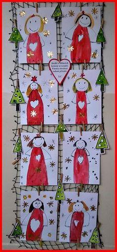 Christmas Angel Crafts, Christmas Art For Kids, Christmas Art Projects, Christmas Activities For Kids, Winter Crafts For Kids, Christmas Love, Winter Christmas, Cork Crafts, Christmas Crafts