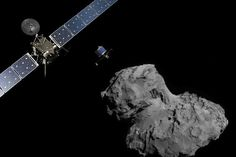 Rosetta Spacecraft crashes into Comet 67P/Churyumov-Gerasimenko that it has been orbiting for the past 2 years (2016). The 3 tonne orbiter Rosetta, and on board lander, Philae, set out in March 2004.
