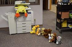 making photocopies of themselves,. Stuffed Animal Sleepover 2015 061 making photocopies of themselves,. School Holiday Activities, Sleepover Activities, Sleepover Party, Slumber Parties, Summer Activities, Preschool Activities, Pajama Party, Library Themes, Library Activities