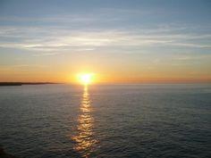 """Sonnenuntergang von Mallorca Restaurant """"Mirador de Cabrera""""."""