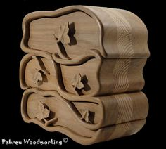 Gorgeous Ivy  Band saw box  Jewelry box by PabreuWoodworking on Etsy, €150.00