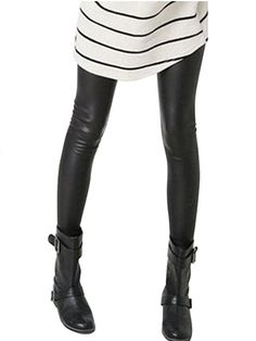 Women's Wet Faux Leather Tregging Leggings Shiny Pants Tights/SKU079076