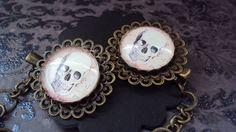 Sweater clip skull Rockabilly antique bronze color 25 by SEVN7SEVN, $11.50