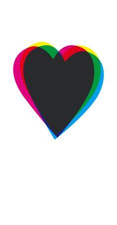 lamina diseño grafico decoracion corazon