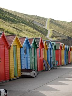 Bright and colourful beach huts