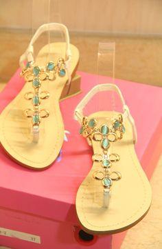 Morpheus Boutique  - Colorful Crystal Strap Flat Lady Sandals Shoes, $79.99 (http://www.morpheusboutique.com/colorful-crystal-strap-flat-lady-sandals-shoes/)