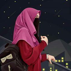 Cute Girl Drawing, Cartoon Girl Drawing, Girl Cartoon, Couple Cartoon Pictures, Girl Pictures, Muslim Images, Hijab Drawing, Pakistani Bridal Makeup, Beautiful Landscape Wallpaper