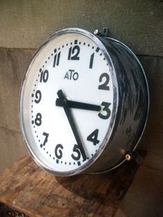 french industrial machine age ato lighted clock railway station