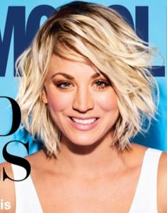 Kaley Cuoco - Hair looks great growing back out. The darker roots work.
