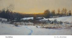 Painting Snow, Winter Painting, Large Painting, Winter Landscape, Landscape Art, Landscape Paintings, John Mcdonald, Small Paintings, Oil Paintings