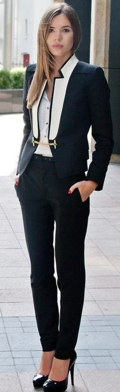 Ladylike version of a suit