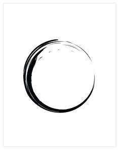 Zen Circle - Home Warei Deas Circle Art, Circle Design, Kreis Logo Design, Black Tattoos, Small Tattoos, Kreis Tattoo, Zen Tattoo, Zen Symbol, Circle Tattoos