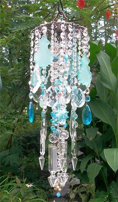 crystal wind chimes - something like this would be nice for an outdoor wedding