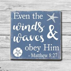 Even the Winds & Waves Obey Him,Matthew Vintage Bible Verse Scripture Sign,Beach House Sign,Beach Decor,Beach House Bathroom Wall Art – Beach House Decor Beach House Bathroom, Beach Bathrooms, Bathroom Wall Art, Beach Theme Bathroom, Beachy Bathroom Decor, Beach Kitchen Decor, Ocean Bathroom, Tropical Bathroom, Downstairs Bathroom