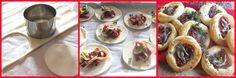 Sfogliette con pomodorini secchi e acciughe
