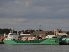 The Arklow Raven docked by Medway City Industrial Estate [shared]