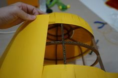 Picture of Finishing Lego Costume, Lego Head, Stationary Store, Costume Works, Head Mask, Yellow Paper, Cool Store, School Parties, Design Lab