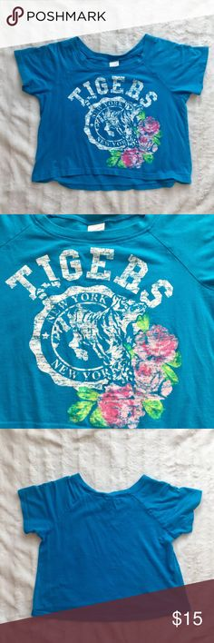 Xhilaration Blue Tiger Top *great condition *no flaws  make me an offer! or click bundle and i can send you a personal offer!  any questions? be sure to comment below! Xhilaration Shirts & Tops