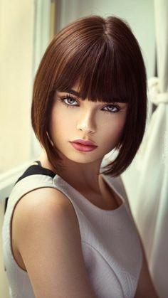 You might say that these unit of measurement a short vary of concepts. but it'll be same that, if you avoid these concepts, you may miss one issue nice at the stage of bedded Bob Hairstyles. Bob Haircut With Bangs, Bob Hairstyles With Bangs, Layered Bob Hairstyles, Bob Haircuts, Brunette Hairstyles, Pretty Hairstyles, Trending Hairstyles, Beautiful Eyes, Hair Trends