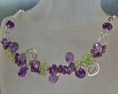 Amethyst Peridot Gemstones & Sterling Silver by looksgoodonya, $164.00