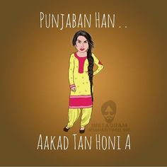 Tag the punjaban by modernpunjabi Swag Quotes, Love Song Quotes, Good Life Quotes, Couple Quotes, Jokes Quotes, Girl Quotes, Happy Quotes, Positive Quotes, Punjabi Attitude Quotes