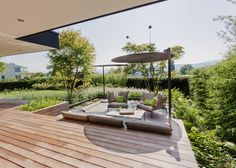 Photo 20 of 21 in Object 336 - beautiful blackbox by meier architekten zurich - Dwell Pergola Designs, Patio Design, Garden Design, Outside Living, Outdoor Living, Lofts, Porch And Balcony, Outdoor Spaces, Outdoor Decor
